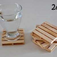Palés posavasos hechos con maderas recicladas