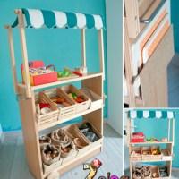 Puestecito de mercado de juguete DIY
