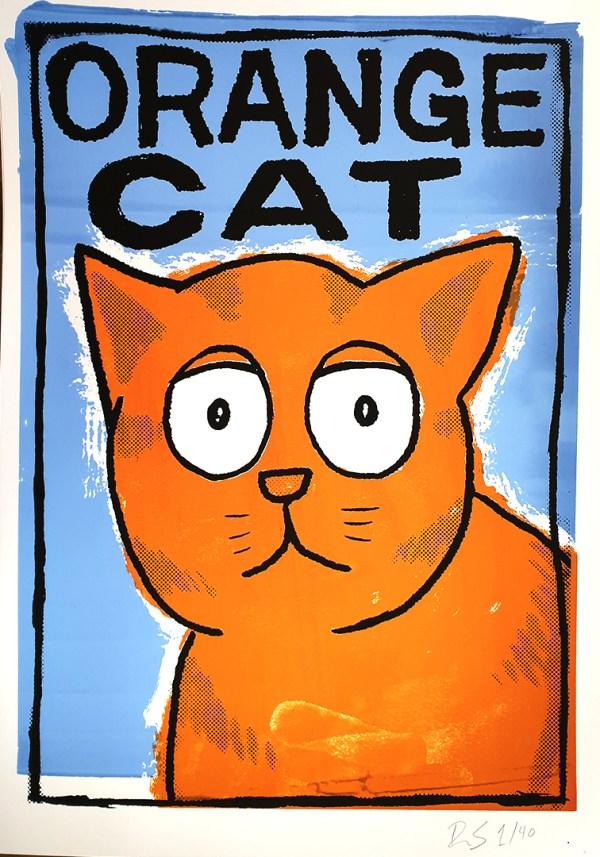 Orange Cat limited screen print