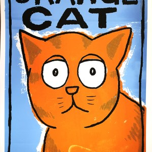 Orange Cat limited screen print
