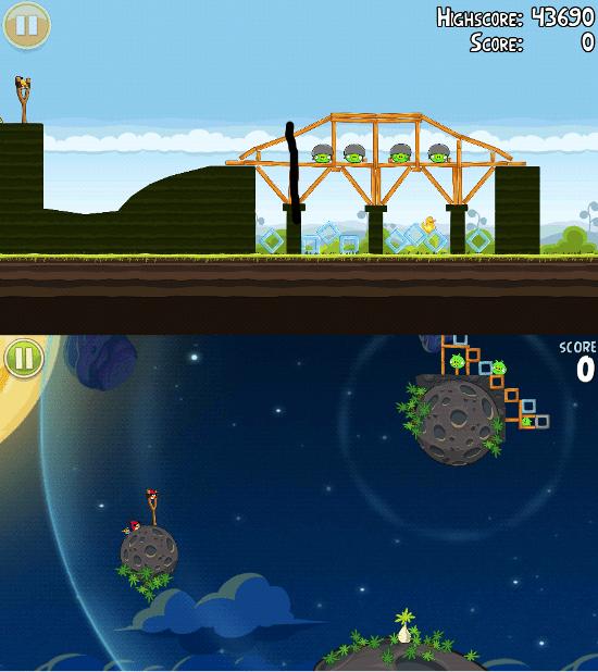 Angry Birds Original vs Space