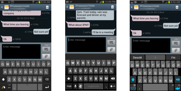 Swype, Android 4.2, and SwiftKey keyboards