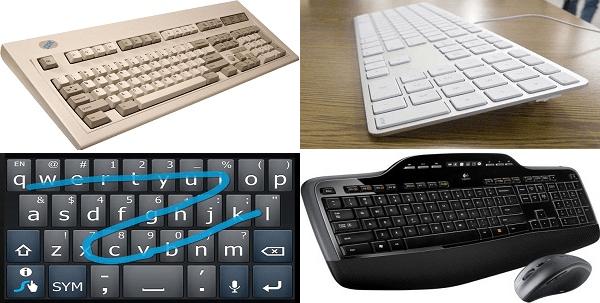 IBM, Apple, Swype, Logitech keyboards
