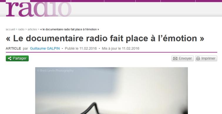 Le documentaire radio de plus en plus populaire chez les jeunes.
