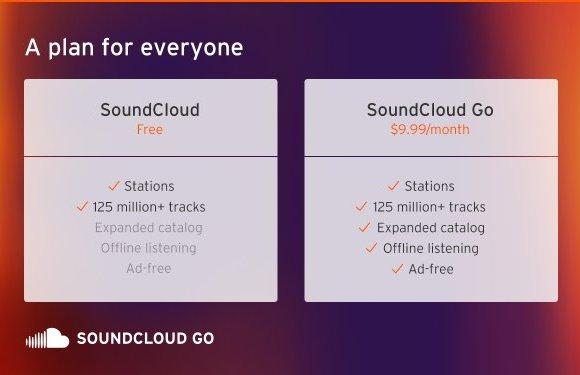 SoundCloud lance son abonnement payant.