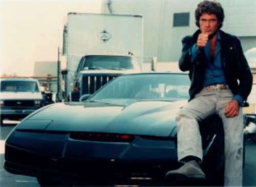 KITT and Michael Knight