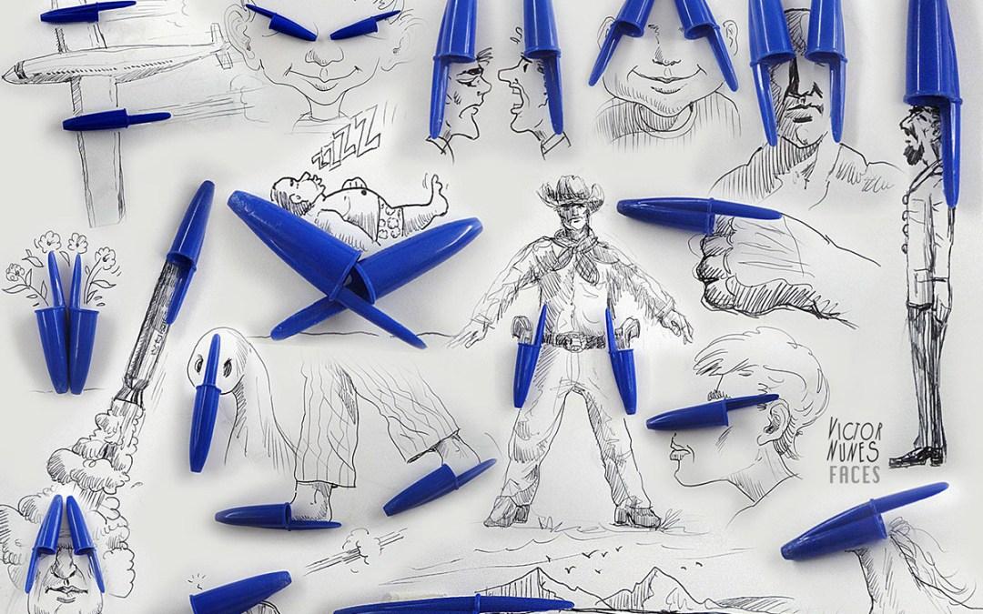 Victor Nunes mêle dessins et objets du quotidien