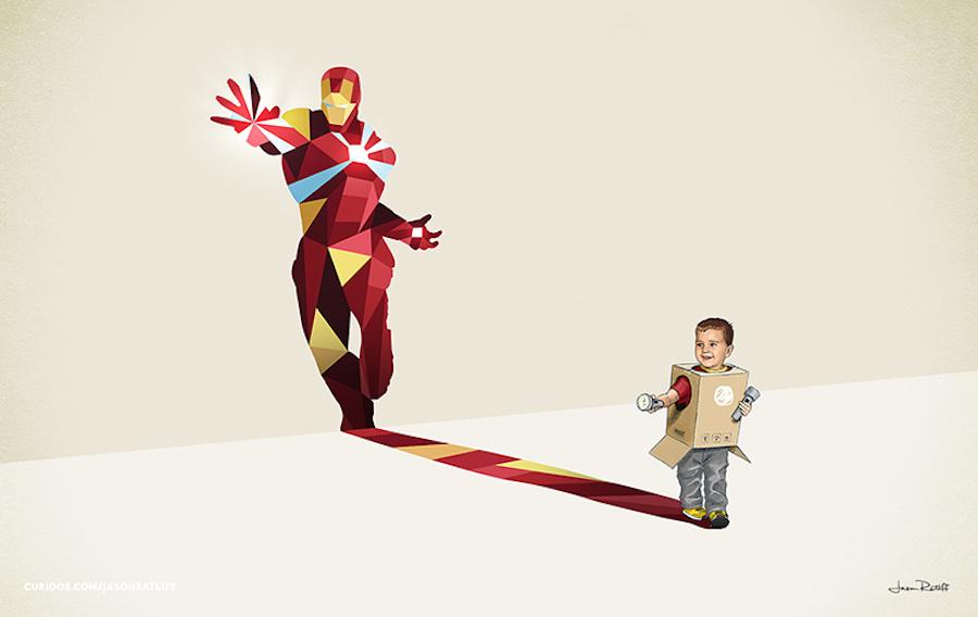 Les ombres des enfants super-héros