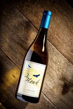 2Hawk Vineyard and Winery Viognier White Wine Bottle