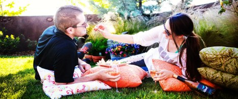 Couple Wine-Tasting and Picnicking at 2Hawk Vineyard and Winery
