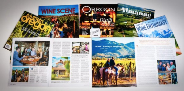2Hawk Vineyard and Winery Magazines and Press