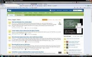 Home Page of Digg.com