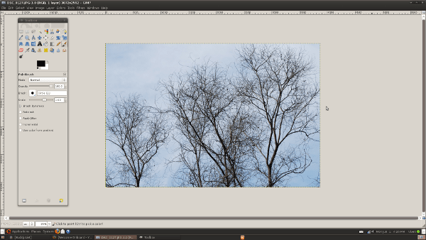 Opening an Image using GIMP