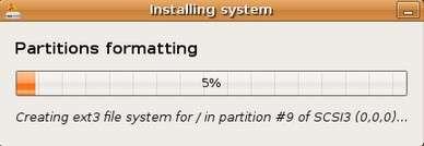 partition formatting