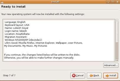 ready to install ubuntu