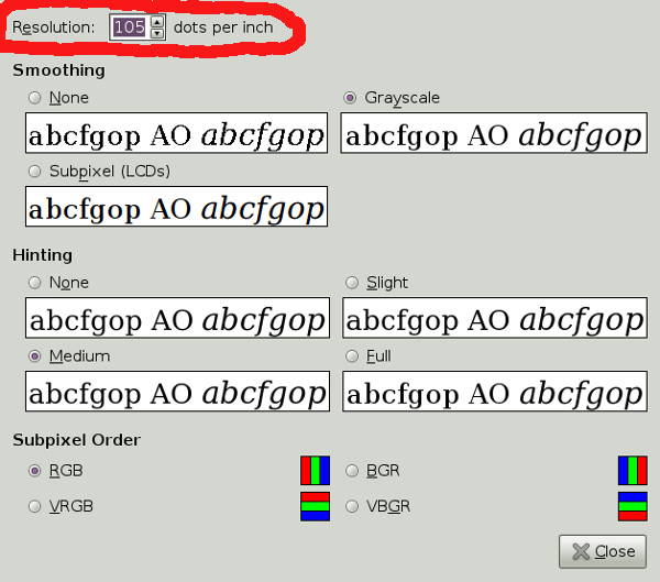 How to change dpi in Ubuntu
