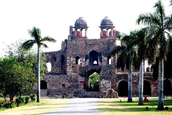 Buildings inside Old Fort, Delhi