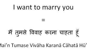 How to say I want to marry you in Hindi