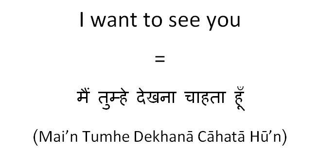 I want to go translate in hindi