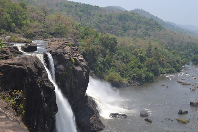 Athirapally Falls from the top