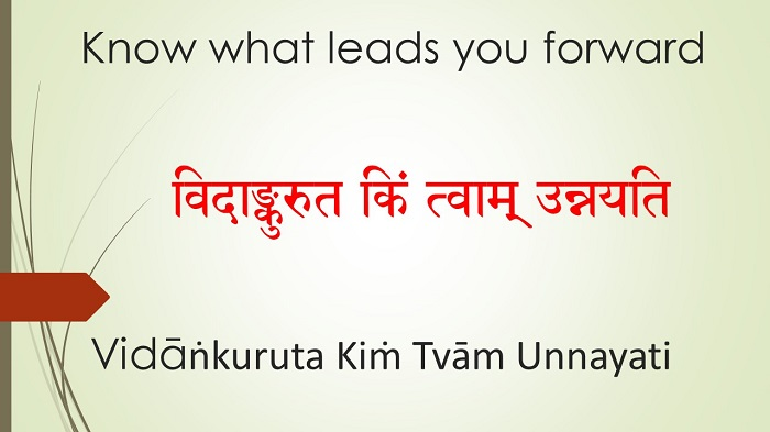 Know what leads you forward