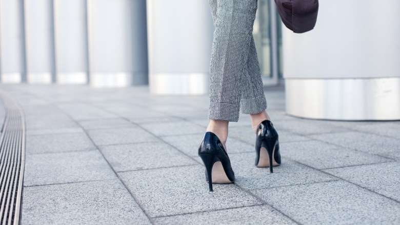 Heels are office dress code