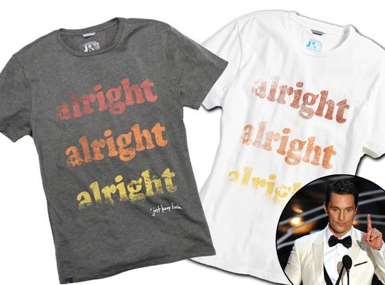 Matthew McConaughey Launches Custom T-Shirt Line