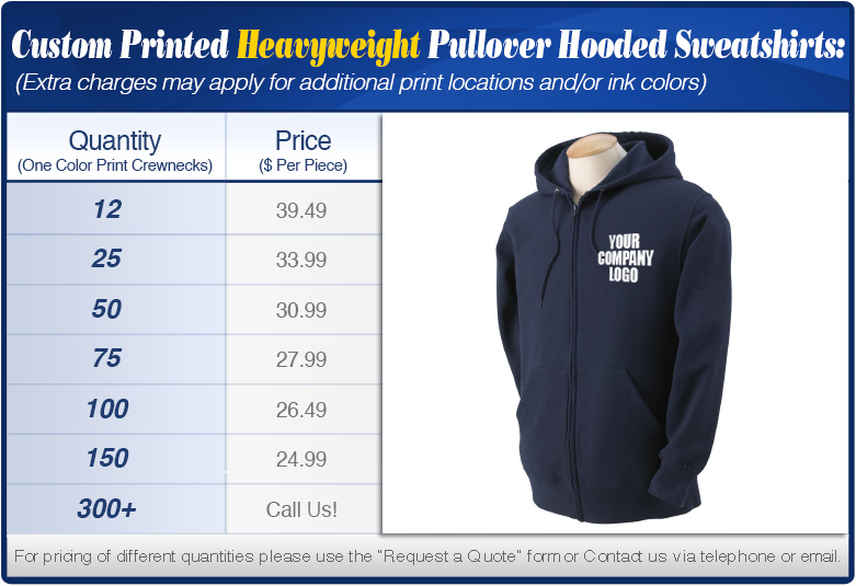 Zip Up Heavyweight Hooded Sweatshirts Specials