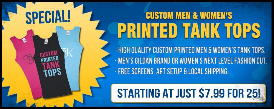 Custom Tank Top Screen Printing Special