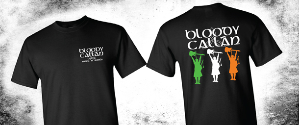 New Tour Shirts For Celtic Rock Band 'Bloody Callan'
