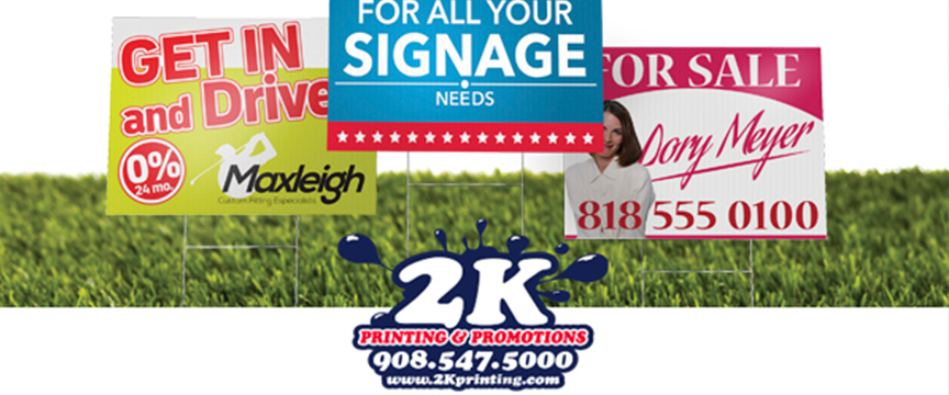 Promote, Announce, Advertise Or Direct With Rigid Signs From 2K