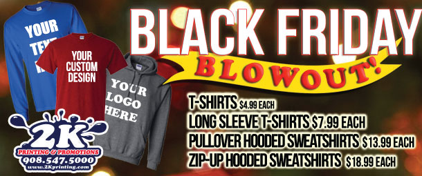 Black Friday Custom Shirt Sales 2k Printing