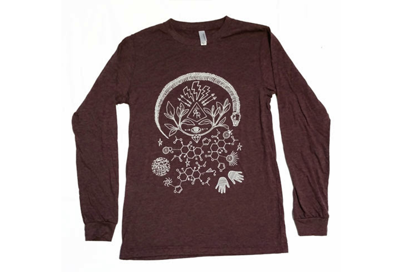 "RR ""Sage Molecule"" Screen Printed Long-Sleeve Shirts"