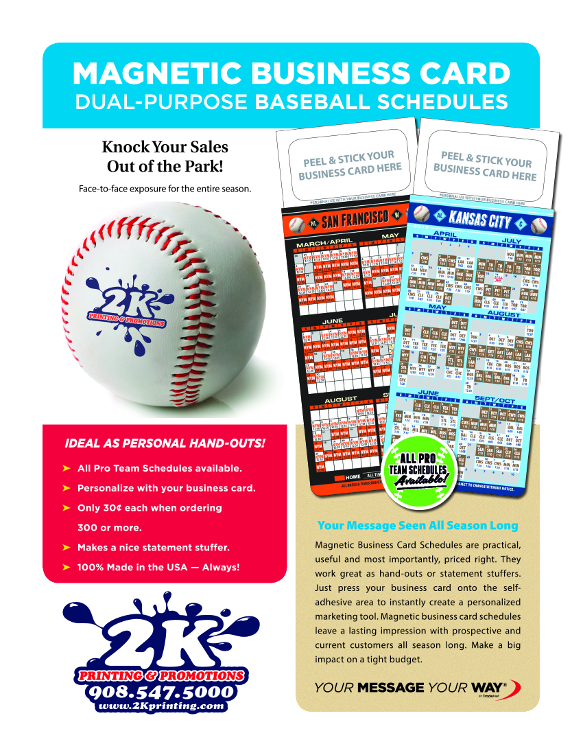 Dual-Purpose Magnetic Baseball Schedule / Business Card Holders ...