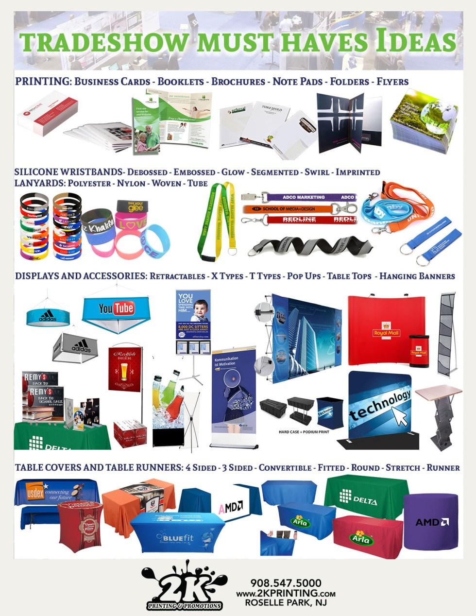 tradeshow promos and marketing materials