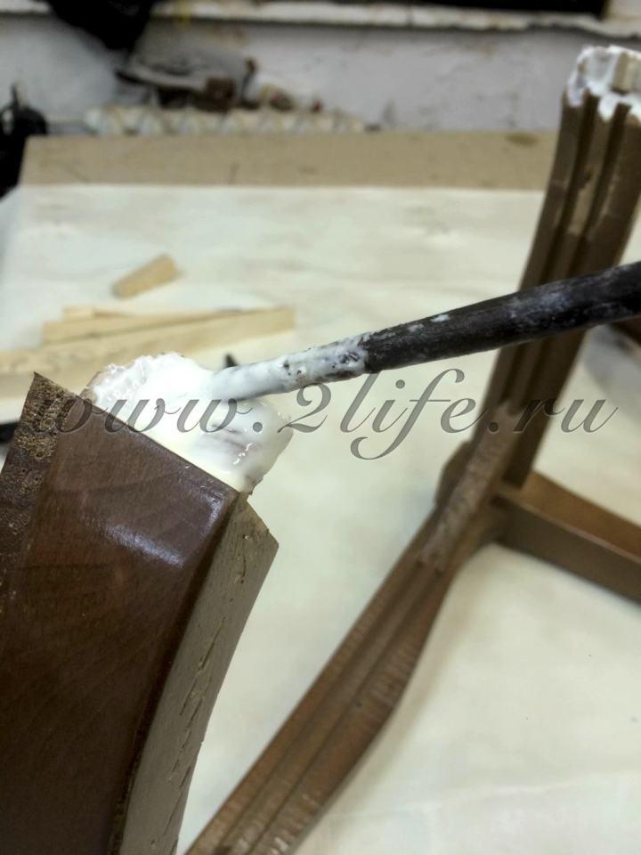 Итальянский столовый гарнитур - частичная реставрация