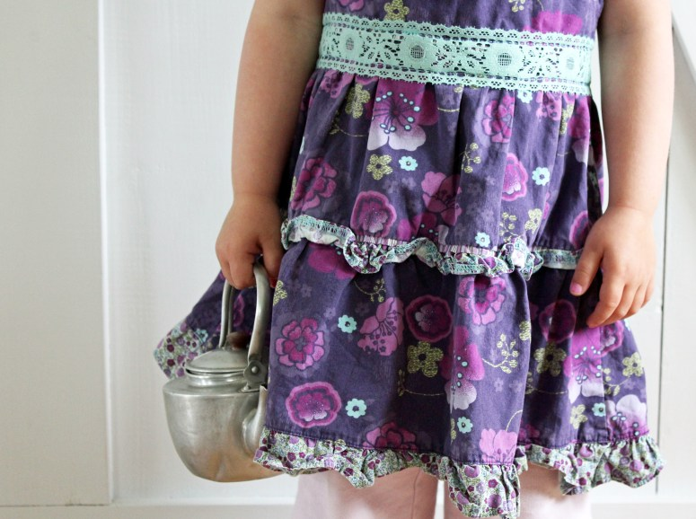 Toddler Dress Refashioned to Toddler Apron {tutorial}