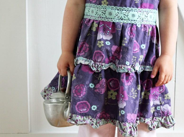 Toddler Dress Refashioned to Toddler Apron {tutorial}