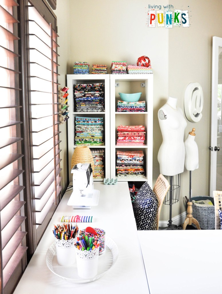 sewing spaces {susan from living with punks}