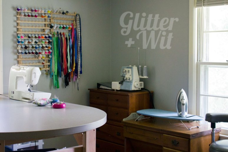 sewing spaces {Tasha from glitter and wit}