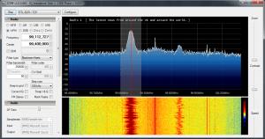 Screenshot of the FM Broadcast band using SDR Sharp