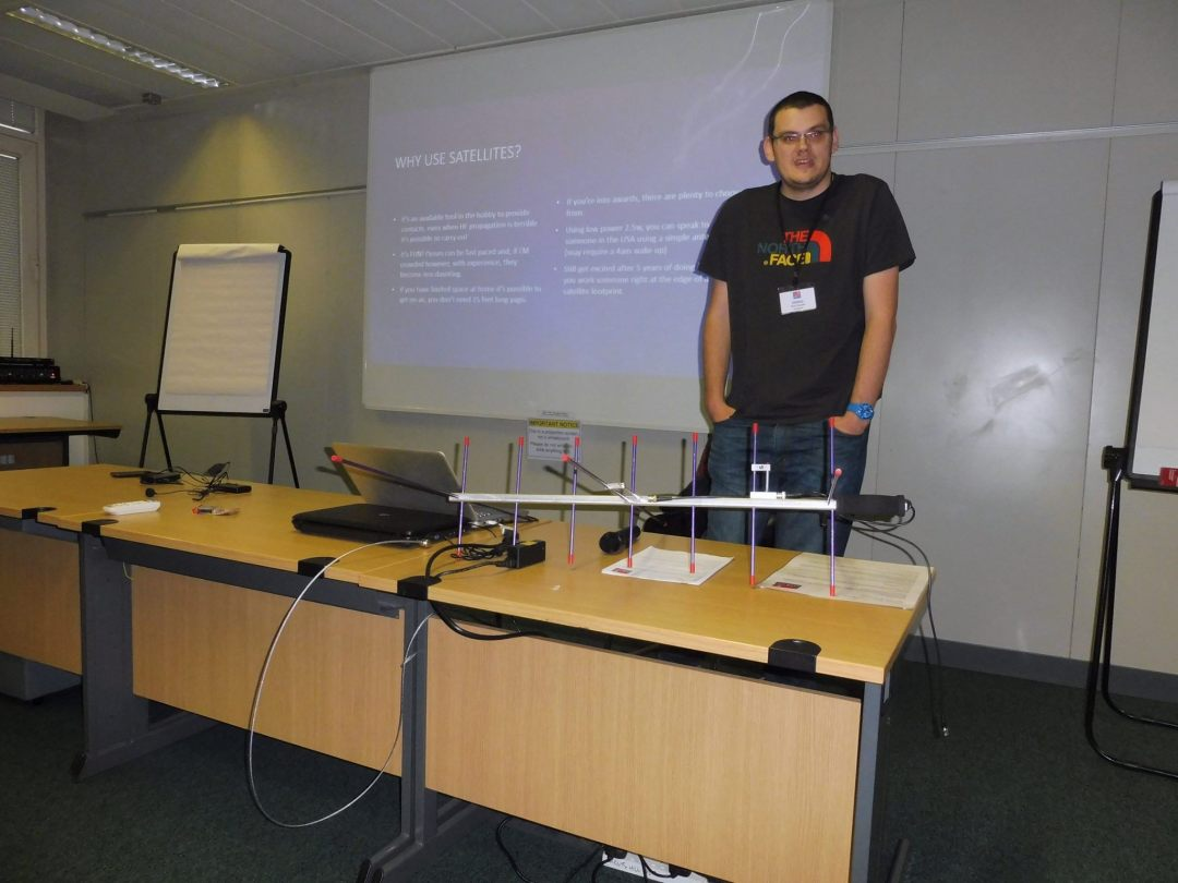 Peter 2E0SQL presenting at the RSGB Convention 2016