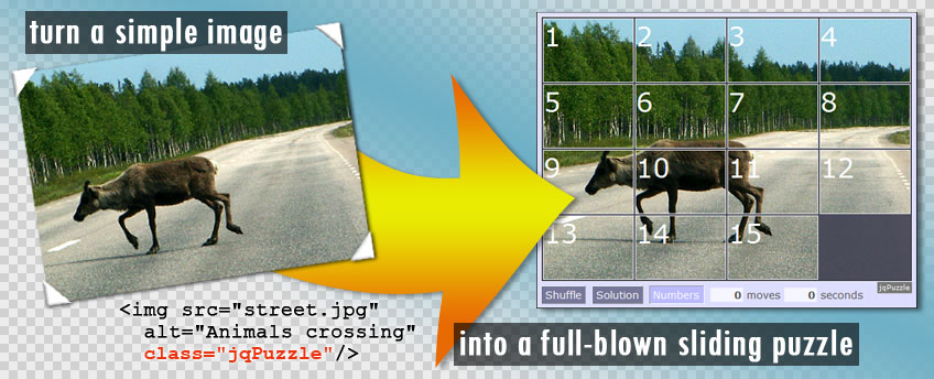 turn a simple image into a full-blown sliding puzzle