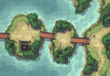 Island Crossing (color square)