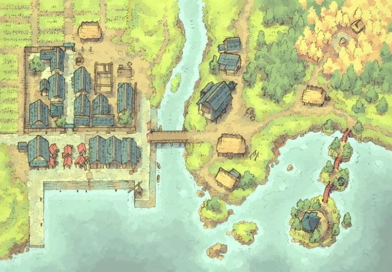 Coastal Town (color)