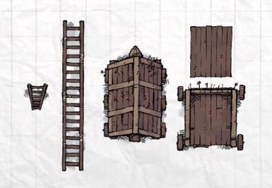 Castle Siege Weapons (ram, ladder, tower)