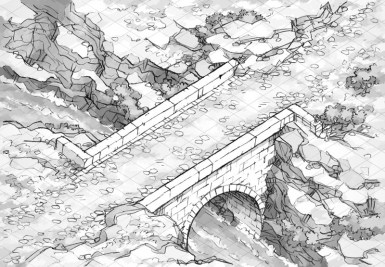 Isometric Bridge (black & white)