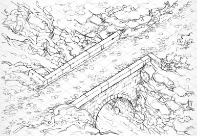 Isometric Bridge (lines)