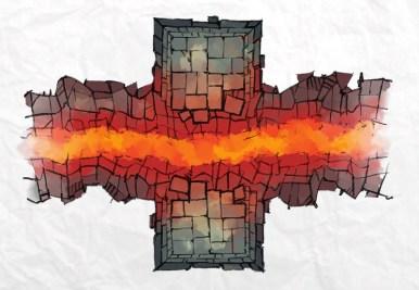 Dungeon Chasm Lava