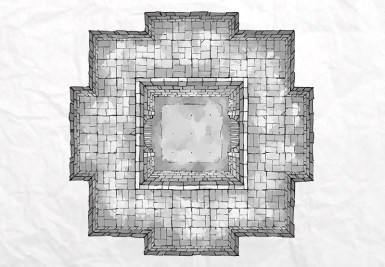 Dungeon Fighting Pit (b&w)